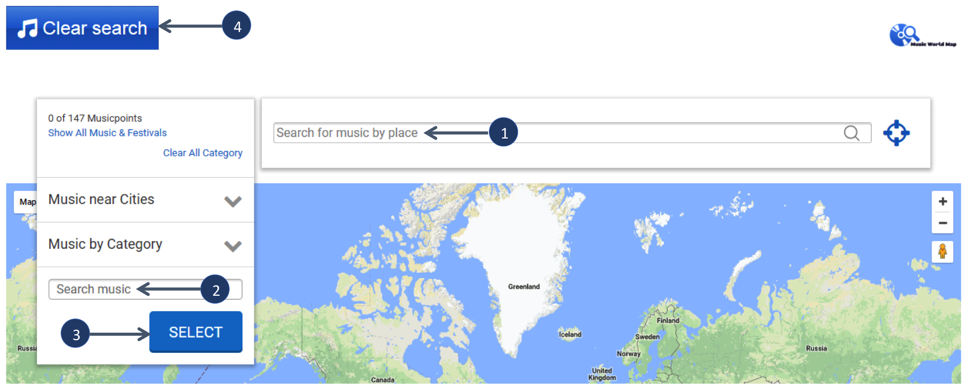 Help music world map explanation search fields gumiabroncs Images